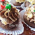 Cupcakes a la crème au beurre et écorces d'agrumes confites