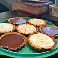 tartelette chocolat caramel et tartelette chocolat chantilly coco 2