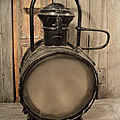 Ancienne Lanterne Lampe Phare Locomotive Train S.N.C.F Gare.