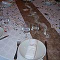 Anniversaire ~~ chocolat et blanc ~~ les tables
