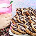 Biscuits palmiers à la pâte à tartiner nocciolata