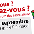 - forum des associations à chaponost le 09.09.17.