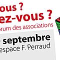 - forum des associations à chaponost le 09.09.17.