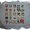 Broderie du nouvel an: patchwork automne de jardin privé