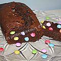 Cake au chocolat et aux smarties