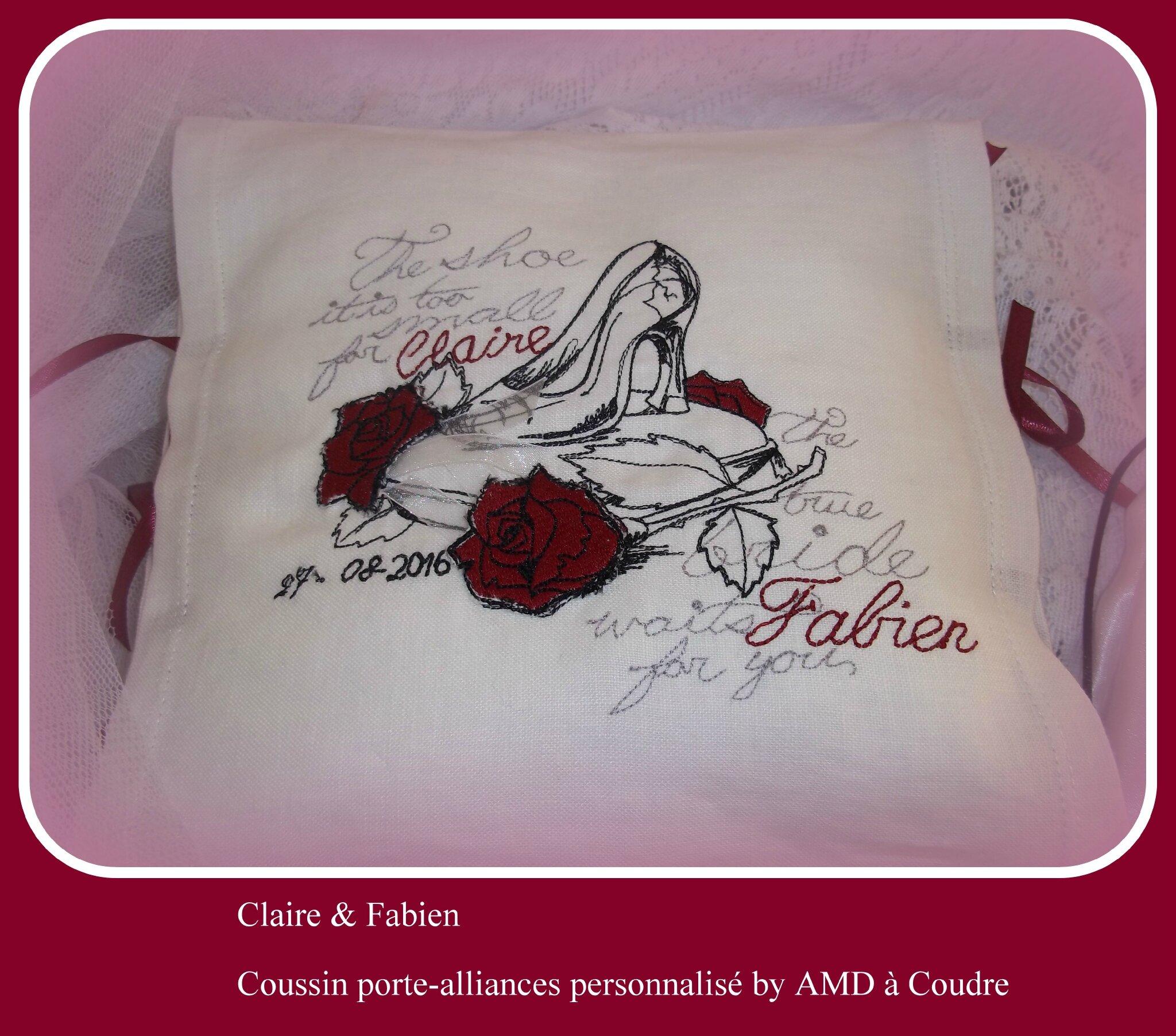 Tous nos voeux de bonheur à Claire et Fabien, ensemble mariage personnalisé by AMD à Coudre, bride, wedding