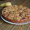 Gâteau moelleux aux poires et myrtilles