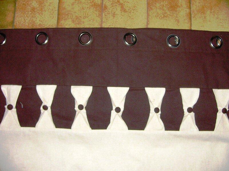 Tête de rideau lin et coton chocolat