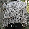 Mon ethereal triangular shawl !
