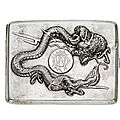 An early 20th century <b>Chinese</b> <b>export</b> <b>silver</b> cigarette case, by Wing On & Co, Hong Kong