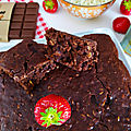 Brownie au flocon d'avoine - IG Bas