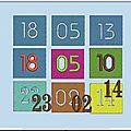 Motif à broder date de naissance ou autre anniversaire