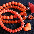 Lot de <b>bracelets</b> (tons <b>orange</b>)