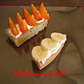 Pain de gêne, crème au mascarpone citroné et fruits