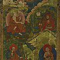 Quatre <b>Arhat</b>, Tibet, ca 18° siècle
