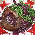 Coeur de boeuf sauce beaujolais nouveau
