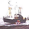 Un chasseur d'épaves s'échoue sur les roches du Cabellou