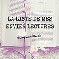 Wishlist Lecture: La liste de mes envies lectures #3