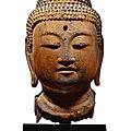 A superbly carved wood figure of Amida Nyorai, Japan, late Heian period, <b>12th</b> <b>century</b>