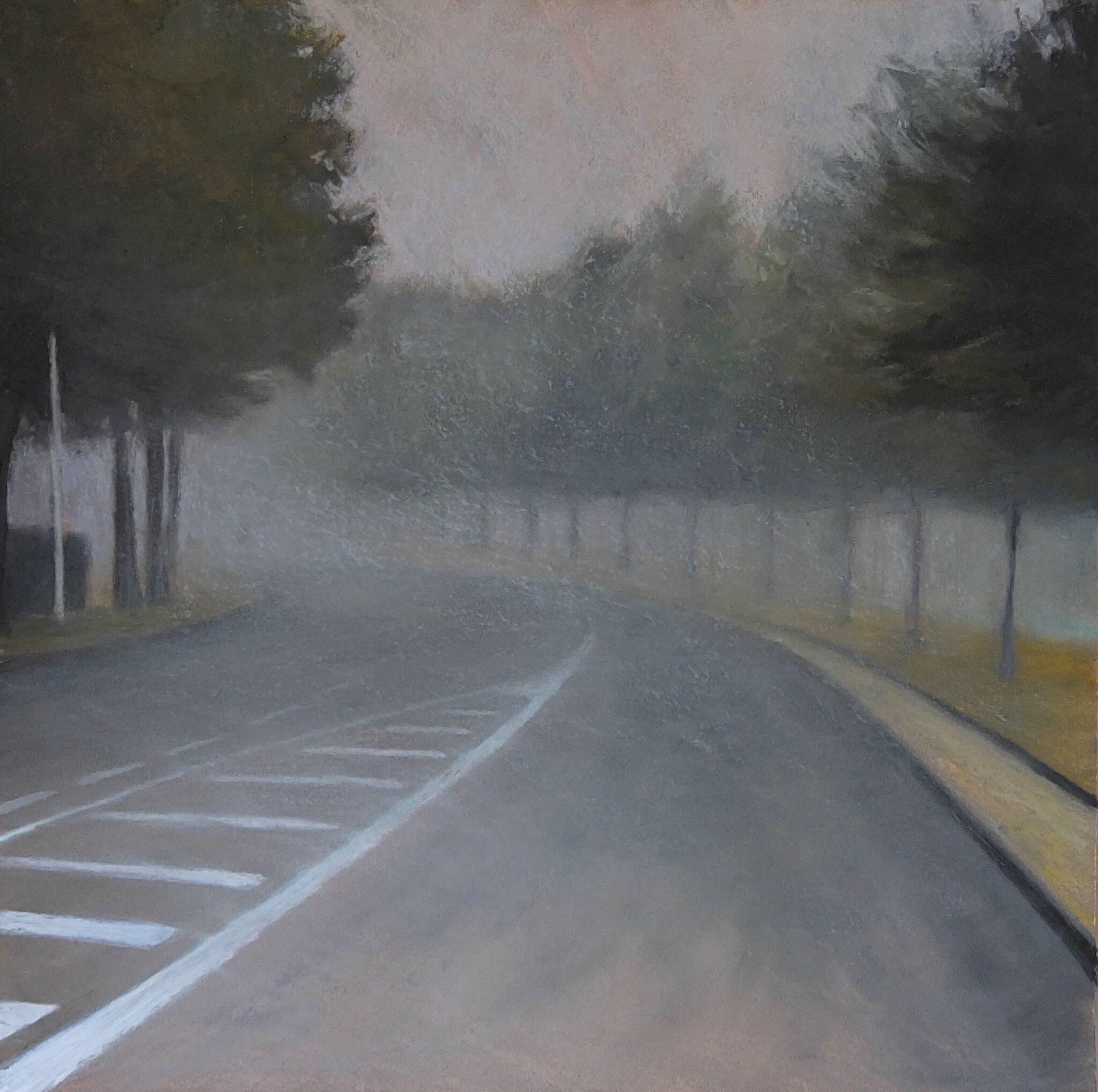 K'nowhere #33, oct 2014, pastel à l'huile. 48 x 48 cm.