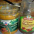 Cake moelleux carotte/châtaigne/fève tonka fourré aux amandes caramélisées