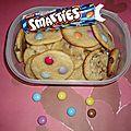 Cookies crousti moelleux pépite de chocolat et smarties