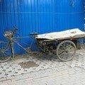 Vieux vélo-déménageur