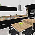 Projet client: une cuisine en noir et bois