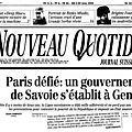 Savoie Libre Suisse - Site Officiel
