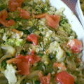 Gratin de cabillaud aux légumes.