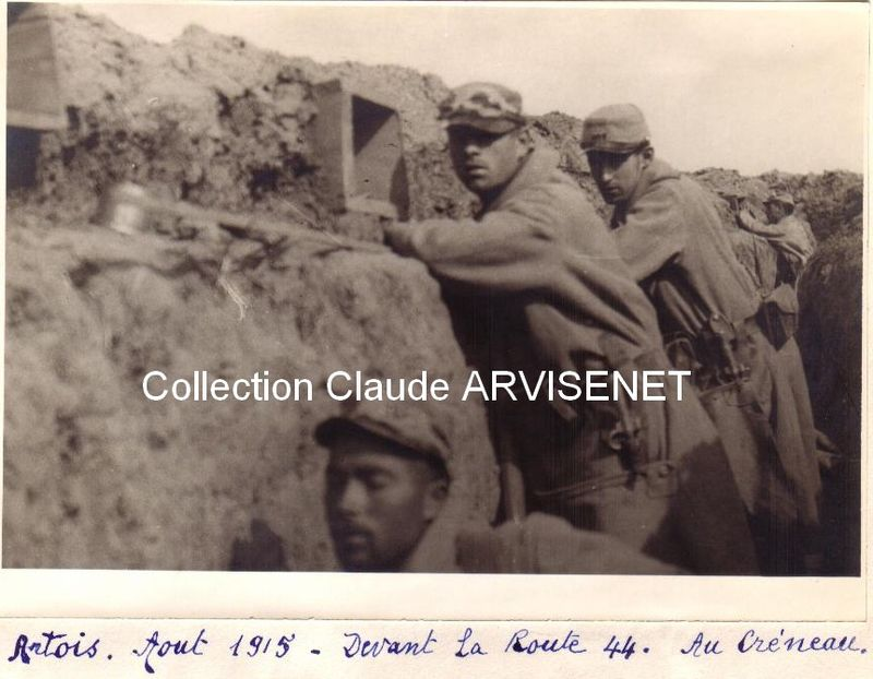 ARTOIS - Au créneau devant la route 44 Août 1915