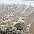 Les grandes marées, à marée haute, côté mer