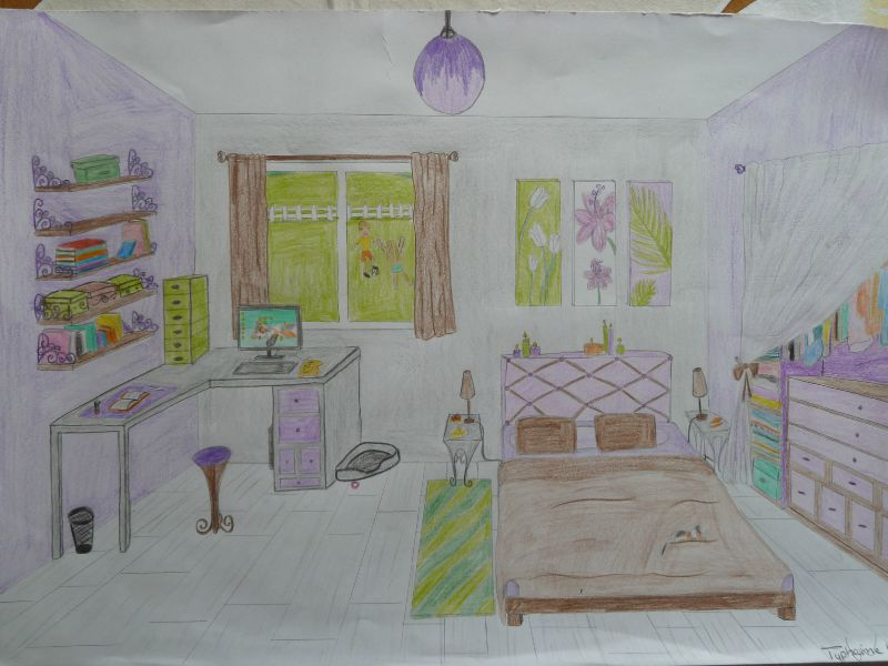 dessin perspective les petits trucs de canelle. Black Bedroom Furniture Sets. Home Design Ideas