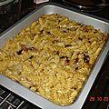 Pâtes au four champignons/céleris
