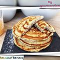Pancakes coco/ banane (117 cal/ par pancakes)