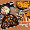 Légumes et féta rôtis au four