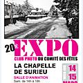 Exposition photos a la chapelle de surieu, c'est ce week-end, 14 & 15 mars, venez nombreux !