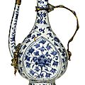 A blue and white islamic market ewer, Jiajing mark and period (1522-1566)