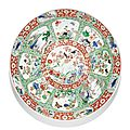A large famille verte charger, Qing dynasty, Kangxi period (1662-1722)