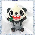 Doudou Peluche <b>Pokemon</b> Panda Pandespiègle Gris Et Blanc Tomy 22cm