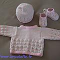 Ensemble bébé blanc et rose