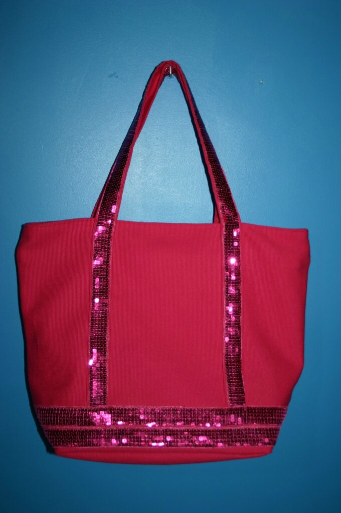 sac à paillettes rose 012