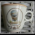 Petite tasse à la montgolfière