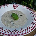 Risotto champignons courgettes saint marcelin (thermomix)