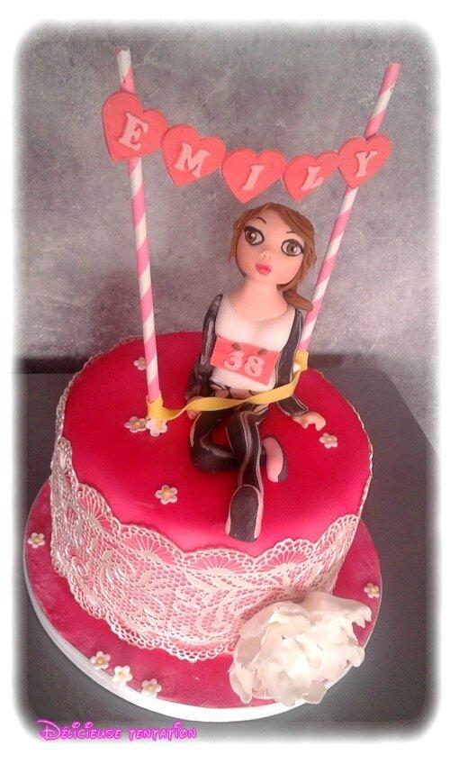 Gâteau running et féminime