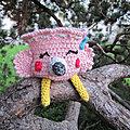 Test <b>crochet</b> - Flamant rose...