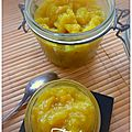 Compote pomme banane & epices...