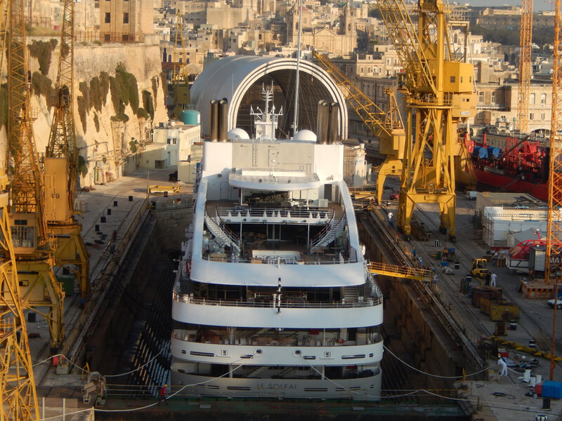 205 FIHV LE SOLEAL IMO N° 9641675 drydock, Valletta