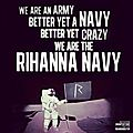 Robyn Rihanna Fenty and her Navy