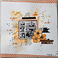 Merveilleux moments page de scrap